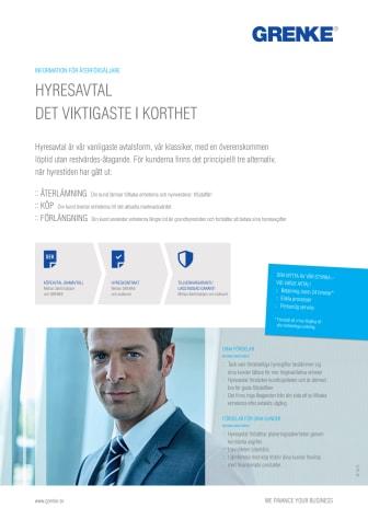 Hyresavtal , Flyer GRENKE Sverige