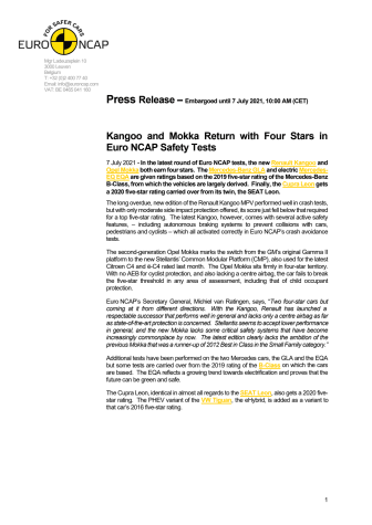 Kangoo and Mokka Return with Four Stars in Euro NCAP Safety Tests - Press Release.pdf