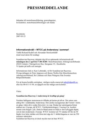 Träffa Rydell och Storckenfeldt innan svenska deltävlingen i WTCC på Anderstorp