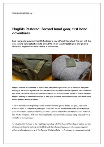 Haglöfs Restored Second hand gear, first hand adventures.pdf
