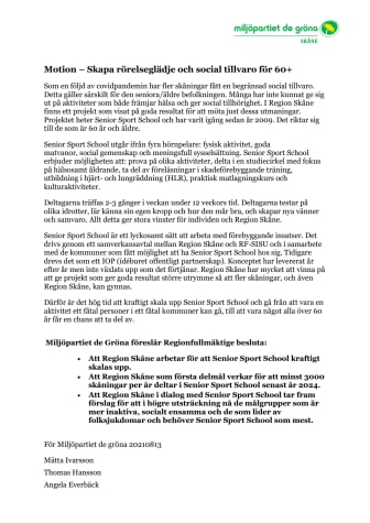 Motion, Skapa rörelseglädje och social tillvaro för 60+, MP 210813.pdf