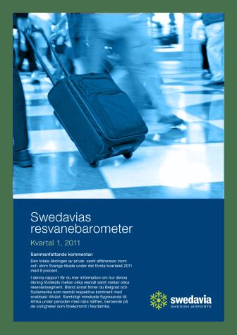 Swedavias resvanebarometer Q1 2011