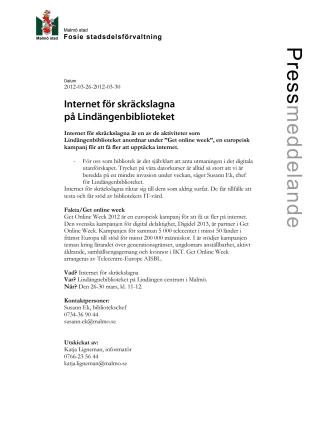 Internet för skräckslagna på Lindängenbiblioteket