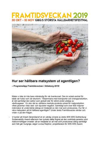 Hur ser hållbara matsystem egentligen ut? - Programsläpp för Framtidsveckan i Göteborg 2019