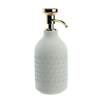 Pomd`or_x_Rosenthal_Equilibrium_Free_standing_soap_dispenser_Hexagon_Gold