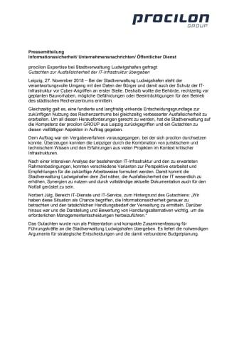 procilon Expertise bei Stadtverwaltung Ludwigshafen gefragt