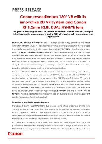 Pressmeddelande Canon RF 5.2mm F2.8L DUAL FISHEYE lens.pdf