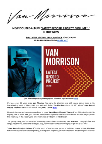 Van Morrison - engelsk pressrelease