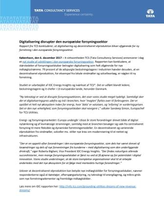 Digitalisering disrupter den europæiske forsyningssektor
