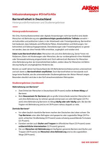 #OrteFürAlle - Faktenblatt Barrierefreiheit