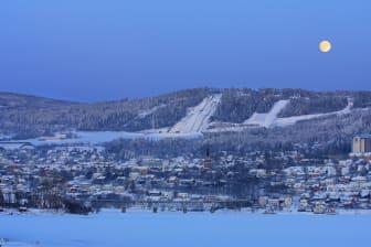 Lillehammer in the moonlight - Jørgen Skaug