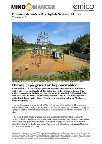 Brottsplats Sverige del 2 av 3 - Dyrare el på grund av kopparstölder
