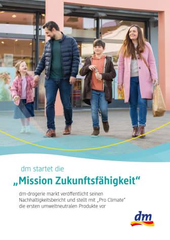 """dm startet die """"Mission Zukunftsfähigkeit"""""""