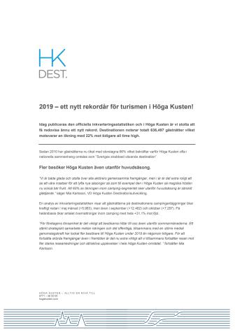 2019 – ett nytt rekordår för turismen i Höga Kusten!