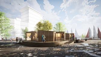 Visionsbild: Co-vid-Co på H22 i Helsingborg