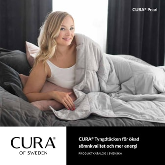 CURA Pearl - tyngdtäcket för bättre sömn och mer energi