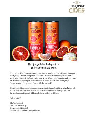 Herrljunga Cider Blodapelsin –  En frisk och fruktig nyhet på Systembolaget!