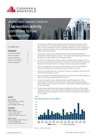 Cushman & Wakefield Investment Market Update Sweden Q3 2015