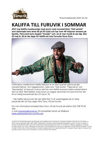 Kaliffa till Furuvik i sommar
