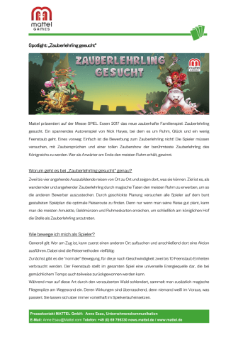 Mattel Games I Spielneuheiten Spielmesse Essen 2017