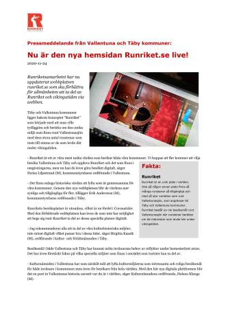 Nu är den nya hemsidan Runriket.se live!