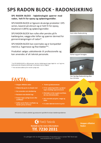 Produktblad SPS Radon Block