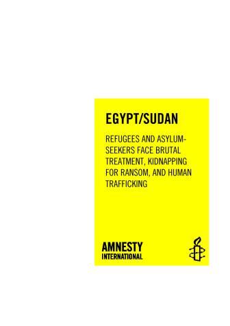 Egypten/Sudan: Den brutala handeln med flyktingar måste stoppas