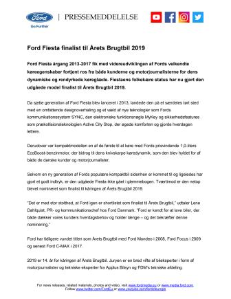 Ford Fiesta finalist til Årets Brugtbil 2019