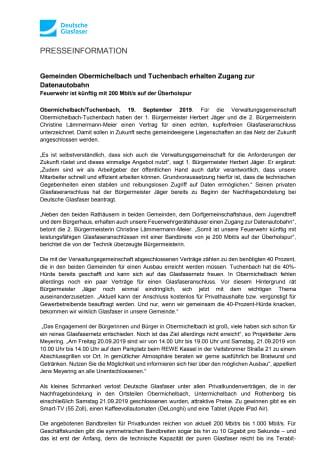Gemeinden Obermichelbach und Tuchenbach erhalten Zugang zur Datenautobahn
