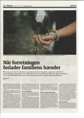 Jyllandsposten fra 8.6.2019: Om ejerskifte i mindre virksomheder