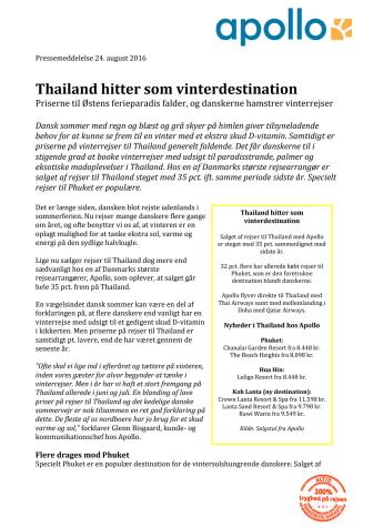 Thailand hitter som vinterdestination