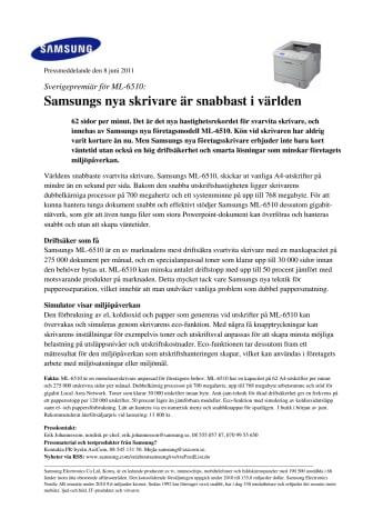 Samsungs nya skrivare är snabbast i världen