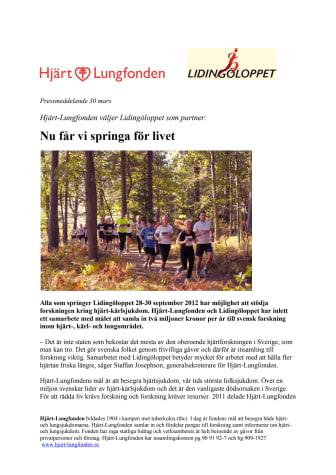 Hjärt-Lungfonden väljer Lidingöloppet som partner: Nu får vi springa för livet