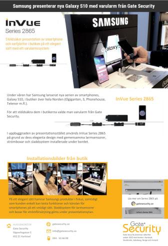 PDF: Samsung presenterar nya Galaxy S10 med varularm från Gate Security