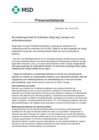 Ny ersättningsmodell för antibiotika viktigt steg i kampen mot antibiotikaresistens