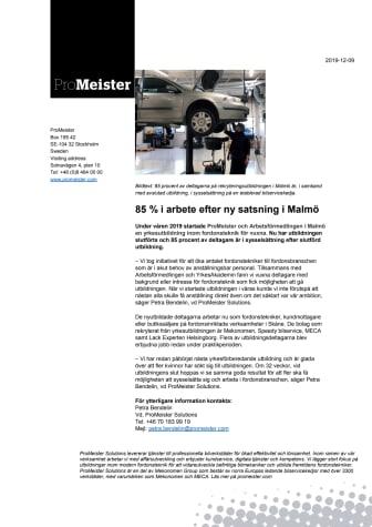 85 % i arbete efter ny satsning i Malmö