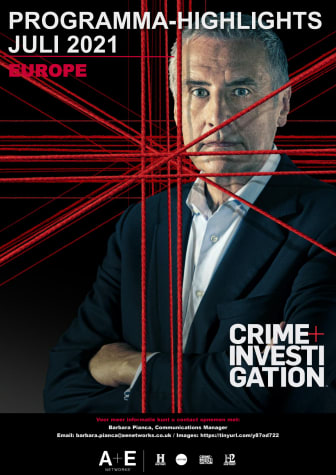 CRIME+INVESTIGATION Programma - Highlights juli 2021