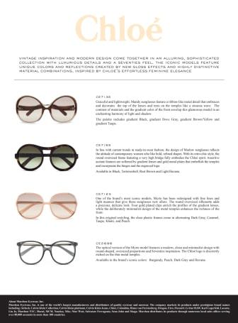 Chloé's new Eyewear Collection