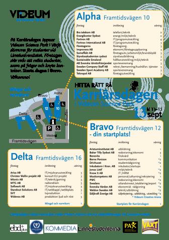 Karta för Karriärsdagen 13 september 2011