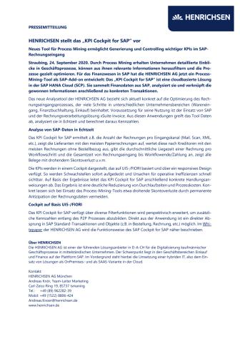Neues Tool ermittelt KPIs im SAP-Rechnungseingang