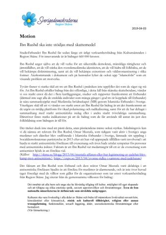 Motion. Ibn Rushd ska inte stödjas med skattemedel.pdf