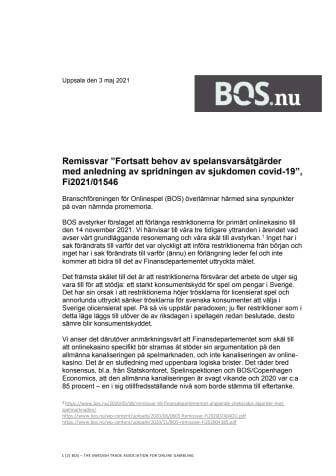"""Remissvar_""""Fortsatt behov av spelansvarsåtgärder med anledning av spridningen av sjukdomen covid-19"""", Fi2021:01546.pdf"""