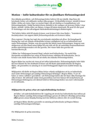 Motion: Inför kulturdoulor för en jämlikare förlossningsvård.pdf