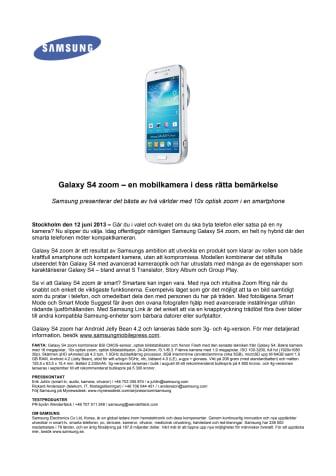 Galaxy S4 zoom – en mobilkamera i dess rätta bemärkelse