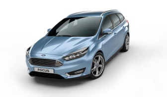 Nya Ford Focus kombi i färgen Glace Blue - bild 1