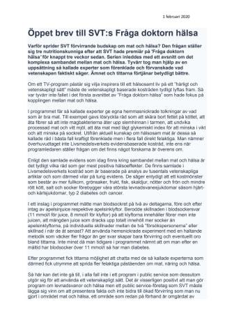 210201 Öppet brev SVTs Fråga doktorn hälsa .pdf