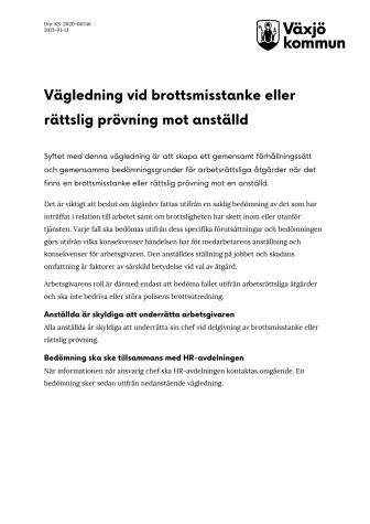 Vägledning vid brottsmisstanke eller rättslig prövning mot anställd.pdf