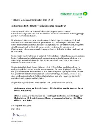 Initiativärende MP HSN 2021-05-06 Flyktinghälsan.pdf
