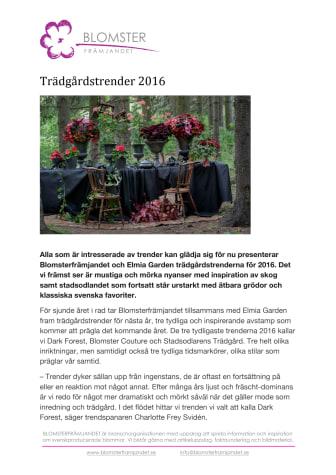 Trädgårdstrender 2016