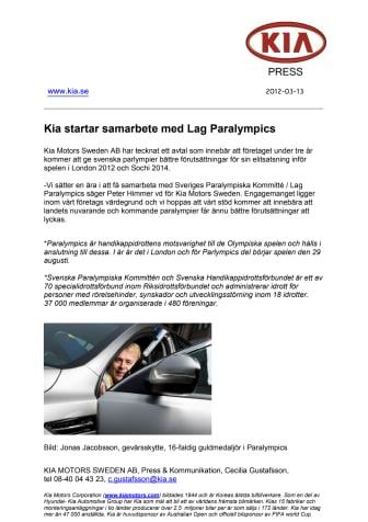Kia startar samarbete med Lag Paralympics